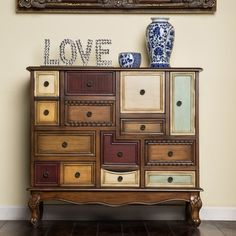 Furniture of America Cirque Vintage Style Multi-colored Chest