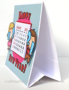 tutorial for a calendar card - bjl