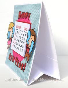 tutorial for a calendar card - bjl
