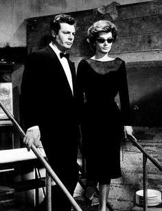 Marcello Mastroianni & Anouk Aimée in La Dolce Vita (1960, dir. Federico Fellini)