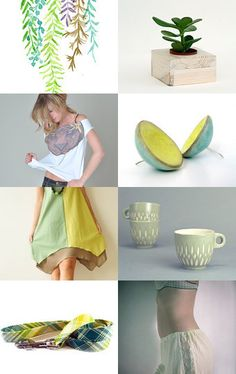 Fresh  #fashion #green #yellow #trending --Pinned with TreasuryPin.com