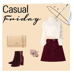 """casualFriday"" by jamakova ❤ liked on Polyvore featuring Miss Selfridge, Kate Spade, Ann Demeulemeester, Ravel, Visone, casualoutfit, rain, polyvoreeditorial and autumn2017"