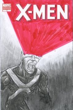 X-men Skech Cover - Cyclops by FWACATA