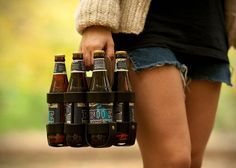 Leather 6-Pack Beer Carrier 1