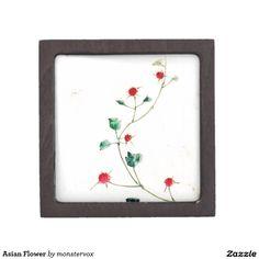 Asian Flower Premium Keepsake Boxes #Flower #Asian #Art #Keepsake #Trinket #Gift #Jewelry #Box