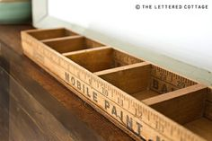 diy ruler sticks box organizer-for all my tiny things! Would be great for an office desk or craft space. Cheap to make too.