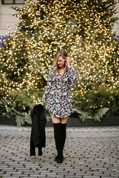 See Anna Jane in the Veronica Beard Franklin Dress, Holiday Style