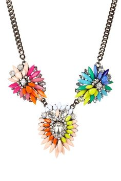 Rainbow Feathered Pendant Necklace