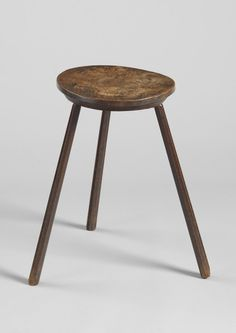 Elm 'cricket' table form candlestand, English circa 1780