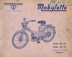 Restauration d'une mobylette Motobécane Modèle AV44 de 1962 Après consultation des annonces sur internet et à défaut de trouver une AV68 de disponible, j'ai craqué pour cette AV44. La belle était à Orly, je pris rendez-vous et je suis allé prendre possession de cette mobylette contre 120 € Ce modèle fut présenté au salon de Paris en octobre 1960 et sa commercialisation s'acheva en 1970. Ce modèle fut la première génération de mobylette avec un cadre fin en tôle emboutie, la pré...
