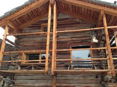 chalet project Pergola, Outdoor Structures, Cabin, Windows, House Styles, Home, Barn, Outdoor Pergola, Cabins