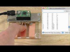 ▶ CapacitiveSensor Arduino Library, Demo on Teensy 2.0 - YouTube