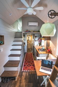 Little Bitty Tiny House -- A 224 square feet tiny house used to house a family of three in North Carolina. | pinned by haw-creek.com