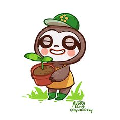 lolpups: Animal Crossing Collab - Leif~ ✿