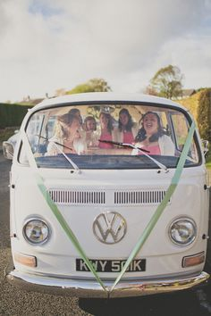 DIY Coral Village Hall Wedding VW Camper http://sarahjaneethan.co.uk/