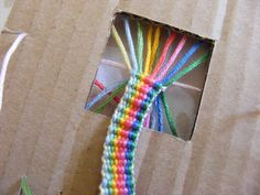 Flat kumihimo braid tutorial