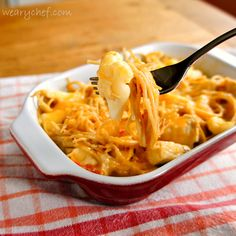Easy Cheesy Chicken Spaghetti - Super #easy dinner #recipe!