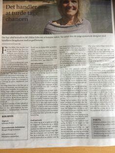 Artikel i et indstikket lokalweekend i Jyllands-Posten i går🤗☺️ #upcoming #upcommingbrand #avis #jyllandsposten #newspaper #fredericiashistorie