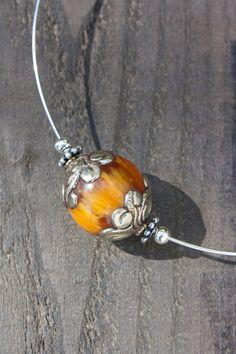 Tibetan necklace Boho resin amber Mila and by MartaDissenys