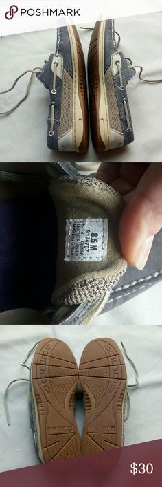 Blue/gray Sperry's size 8.5 Size 8.5 Good condition - see photos Adorable blue/great color Sperry Shoes Flats & Loafers