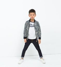 Image 1 of FLORAL PRINT BASEBALL JACKET from Zara
