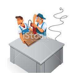 Manual Worker - Illustration Royalty Free Stock Vector Art Illustration