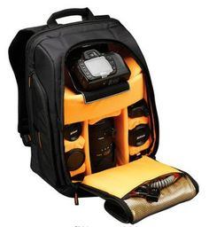 Product Description:  * Hiqh quality camera bag. * You can adjust internal compartments according to your preference. * Can withstand shock pressure due to its thick and durable material. * With side pockets. * With front and side straps for better stability of camera accessories. * Free Rain Cover