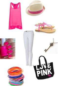 """""""Everything pink"""" by joy-mcgowan on Polyvore"""