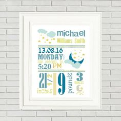 Baby Cross stitch is a wonderful gift for your friends and family, especial for a new born baby! This personalized Birth Announcement is adorable, cute and modern. A perfect decoration for the baby room. When you purchase this pattern, please send us the following information in the Note to Seller section at checkout. We'll send you the new personalized pattern...We will send your customized pattern within 48 hours by e-mail!❀❀❀WHAT YOU NEED TO ❀❀❀★ ★ ★ ★ ★ ★ ★ ★ ★ ★...