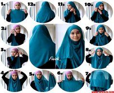 cara-memakai-hijab-syari1.jpg (600×490)