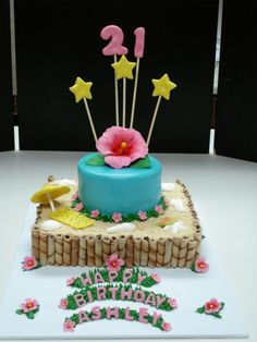 Tropical Birthday By cakebakinggals on CakeCentral.com