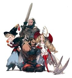 Bravely-Default-1.jpg  by Akihiko Yoshida  ★ || CHARACTER DESIGN REFERENCES…
