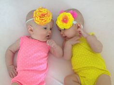 DIY PomPom Headband (infant-toddler elastic measurements for headbands too)