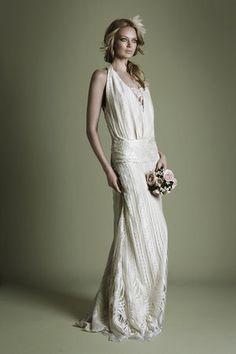 The Vintage Wedding Dress Company, Charlie Brear Roaring 20s interpretation. #vintage inspired