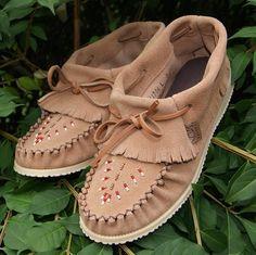 Women's Ankle High Fringed Genuine Mocka Suede Leather Moccasin Shoes - 161706 Mocka