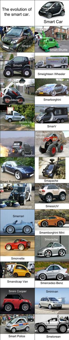 the evolution of the smart car, which would you rather drive?