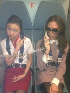 Victoria Beckham Plays Flight Attendant Over Beijing: PHOTO