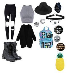 """""""Alternative punk rock style"""" by theratchetdragon on Polyvore featuring PLDM by Palladium, Current Mood, PINTRILL and Miss Selfridge"""