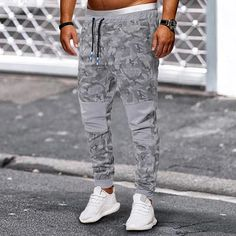 Casual Camouflage Patch Drawstring Jogger Pants – maxgonia Jogger Pants, Joggers, Sweatpants, Men's Bottoms, M Color, Camouflage, Parachute Pants, Going Out, Product Launch