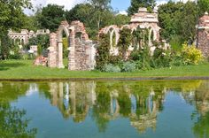 "Awesome new build folly ""remnants"" at the Old Manor House Garden - Capel Manor - by Redwood Stone Folly & Garden in the UK http://www.redwoodstone.com/folly_&_garden/shows_&_events/old_manor_house_garden/capel_manor.html"