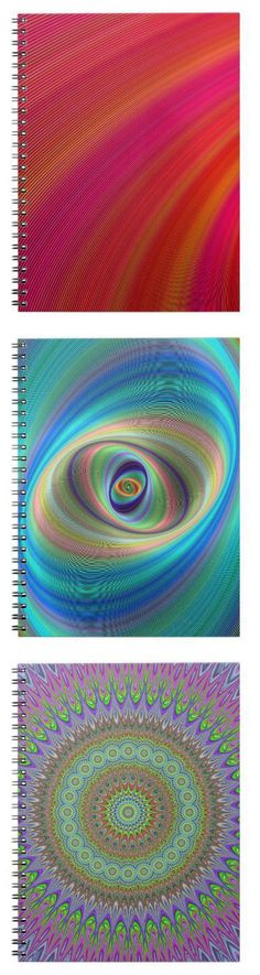 Colorful Notebook Collection - graphic design spiral notebooks