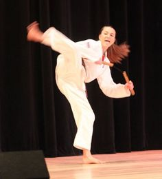 Ocean City's Got Talent  Mercy Griffith shows her karate skill, in a presentation that also included breaking boards.