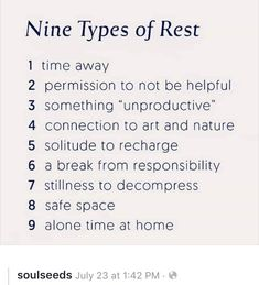 helps people to increase their EQ Creative Wellness Expert, Christine Scott-Hudson, shares the Nine Types Of Rest we can utilize in our Self-Care Practice. Create Your Life Studio. The Words, Stress, Healthy Mind, Motivation, Self Improvement, Trauma, Self Help, Self Care, Just In Case
