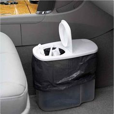 this could solve your car trash can issues! Cereal container = great trash can for your car. man this website is freaking awesome. tons of tips and tricks that made me think. why didnt i think of that!