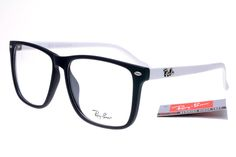 Ray-Ban Square 2428 Black White Frame Transparent Lens RB1126 [RB-1135] - $27.30 : cheap sunglass, Ray Bans outlet