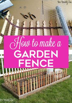 DIY Garden Fencing - How to make a garden fence! DIY Garden Fencing You are in the right place ab - Fenced Vegetable Garden, Diy Garden Fence, Garden Posts, Decorative Garden Fencing, Garden Arbor, Big Garden, Low Maintenance Garden Design, Beautiful Flowers Garden, Diy Garden Projects