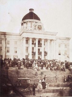 """historicaltimes: """"Inauguration of Jefferson Davis as President of the Confederate States of America at Montgomery, Alabama, February 1861 """" American Civil War, American History, Jefferson Davis, Montgomery Alabama, Confederate States Of America, Civil War Photos, Us History, History Timeline, History Pics"""