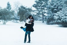 Becoming the Pattersons, Winter Wonderland Engagement shoot