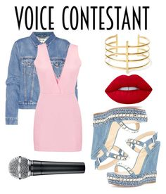 """""""•30•"""" by alicejane1307 ❤ liked on Polyvore featuring Acne Studios, Christian Louboutin, Lime Crime, BauXo, thevoice and YahooView"""