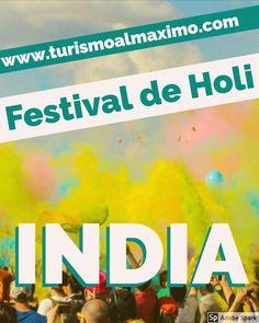 Festival  de Holi en India es un evento anual conocido por su diversión y sus colores en polvo. Es una de las mejores ocasiones para experimentar la India en su momento más feliz.  #turismoalmaximo #turismo #viajes #travels #india #Festivaldeholi #vacaciones #aventura #adventure #blogdeviajes